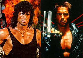 Rambo vs The Terminator