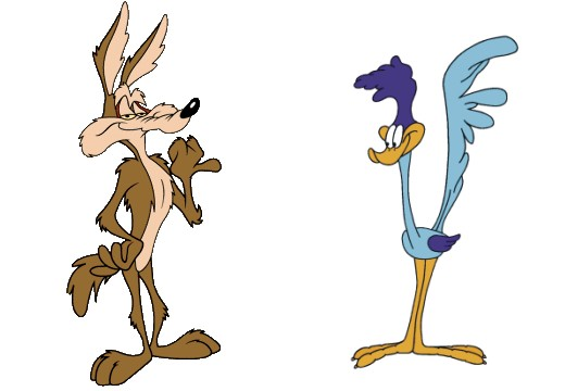 Wile E. Coyote vs Road Runner