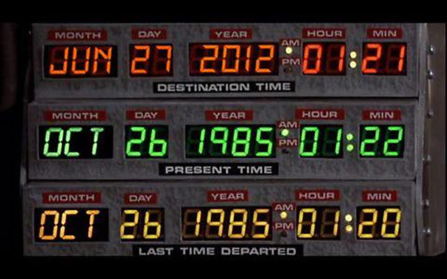 Back to the Future now