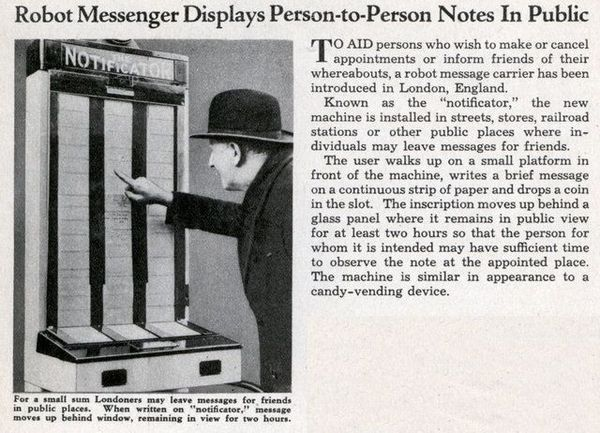 Notificator, 1935