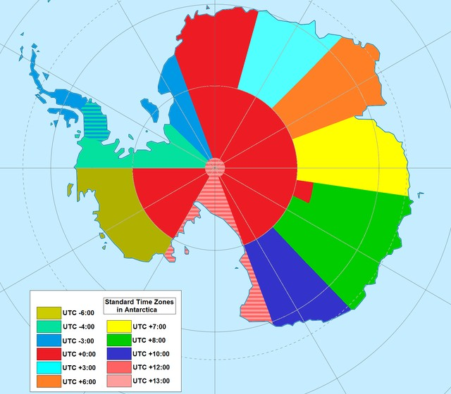 Antarctica Time Zones