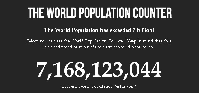 The World Population Counter