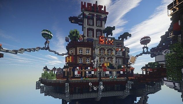 BioShock Infinite in Minecraft