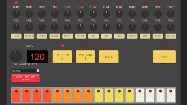 HTML5 Drum Machine