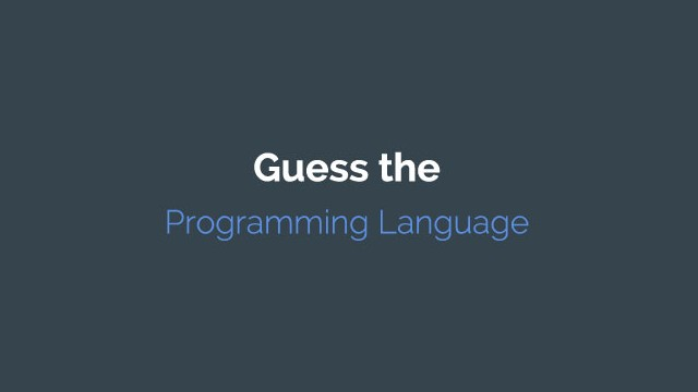 Guess the Programming Language