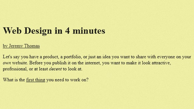 Web design in 4 minutes