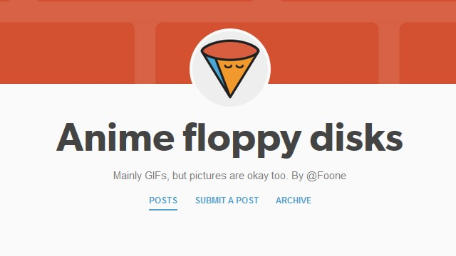 Anime floppy disks