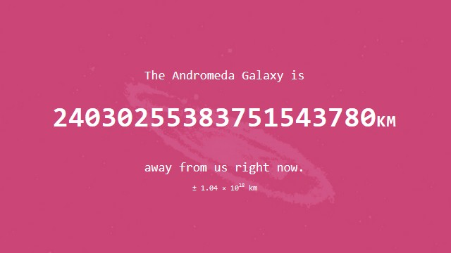 How far is Andromeda