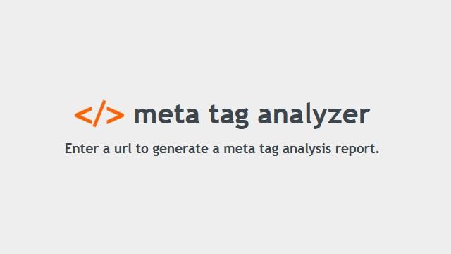 Meta Tag Analyzer : Opod