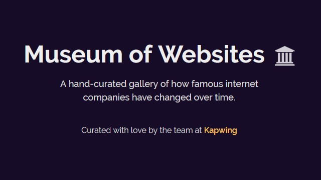 Museum of Websites