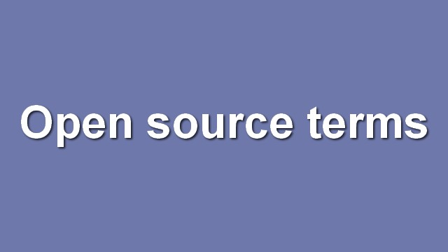 Open source terms